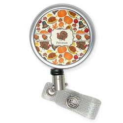Traditional Thanksgiving Retractable Badge Reel (Personalized)