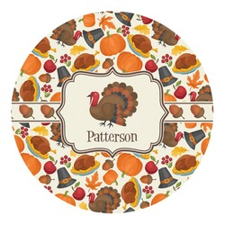 Traditional Thanksgiving Round Decal - Custom Size (Personalized)