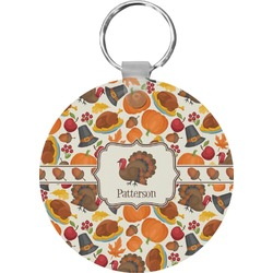 Traditional Thanksgiving Round Keychain (Personalized)
