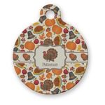Traditional Thanksgiving Round Pet Tag (Personalized)
