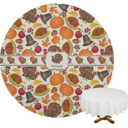 Traditional Thanksgiving Round Tablecloth (Personalized)