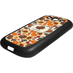 Traditional Thanksgiving Rubber Samsung Galaxy 3 Phone Case (Personalized)
