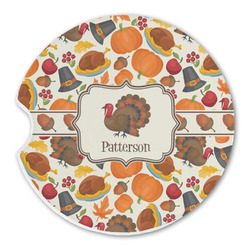 Traditional Thanksgiving Sandstone Car Coasters (Personalized)
