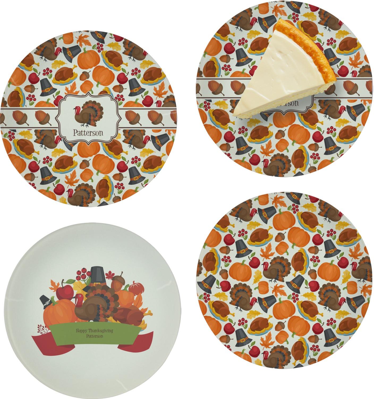 Traditional Thanksgiving Appetizer Dessert Plate 8