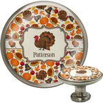 Traditional Thanksgiving Cabinet Knob (Silver) (Personalized)