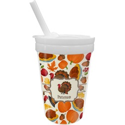 Traditional Thanksgiving Sippy Cup with Straw (Personalized)