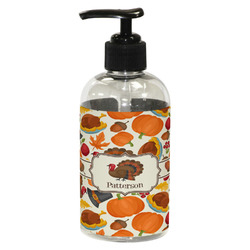 Traditional Thanksgiving Plastic Soap / Lotion Dispenser (8 oz - Small) (Personalized)