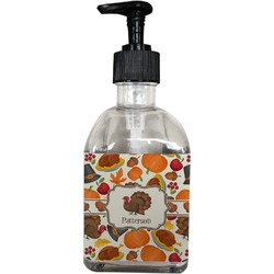 Traditional Thanksgiving Soap/Lotion Dispenser (Glass) (Personalized)