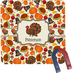 Traditional Thanksgiving Square Fridge Magnet (Personalized)