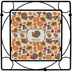 Traditional Thanksgiving Square Trivet (Personalized)