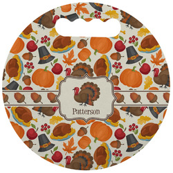 Traditional Thanksgiving Stadium Cushion (Round) (Personalized)