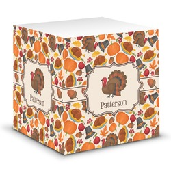 Traditional Thanksgiving Sticky Note Cube (Personalized)