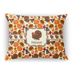 Traditional Thanksgiving Rectangular Throw Pillow Case (Personalized)
