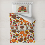 Traditional Thanksgiving Toddler Bedding w/ Name or Text