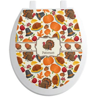 Traditional Thanksgiving Toilet Seat Decal (Personalized)