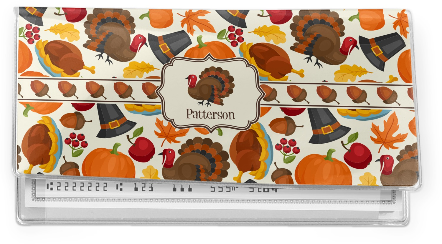 Thanksgiving Cookbook Cover ~ Traditional thanksgiving vinyl check book cover
