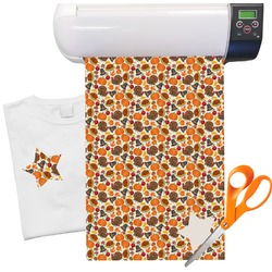 "Traditional Thanksgiving Heat Transfer Vinyl Sheet (12""x18"")"