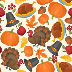 Traditional Thanksgiving Wallpaper & Surface Covering