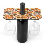 Traditional Thanksgiving Wine Bottle & Glass Holder (Personalized)