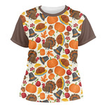Traditional Thanksgiving Women's Crew T-Shirt (Personalized)