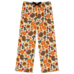 Traditional Thanksgiving Womens Pajama Pants - M (Personalized)