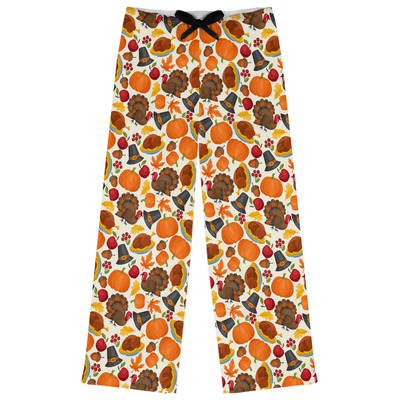 Traditional Thanksgiving Womens Pajama Pants - XL (Personalized)