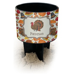 Traditional Thanksgiving Black Beach Spiker Drink Holder (Personalized)