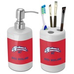 DHS Star & Stripes Bathroom Accessories Set (Ceramic) (Personalized)
