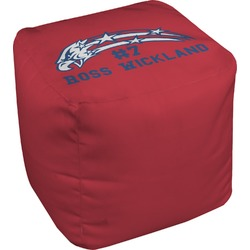 DHS Star & Stripes Cube Pouf Ottoman (Personalized)