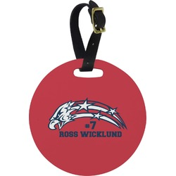 DHS Star & Stripes Round Luggage Tag (Personalized)