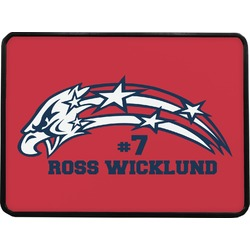 DHS Star & Stripes Rectangular Trailer Hitch Cover (Personalized)