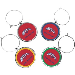 DHS Star & Stripes Wine Charms (Set of 4) (Personalized)