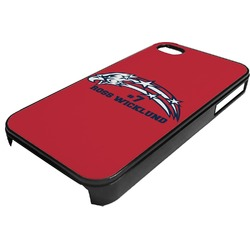 DHS Star & Stripes Plastic 4/4S iPhone Case (Personalized)