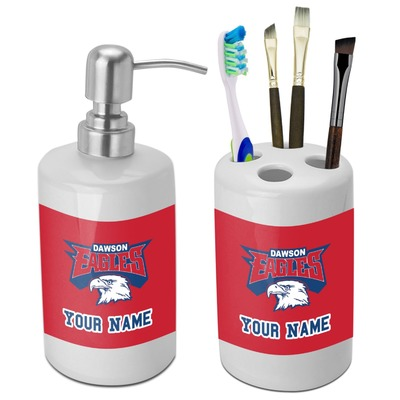 DHS Logo Bathroom Accessories Set (Ceramic) (Personalized)