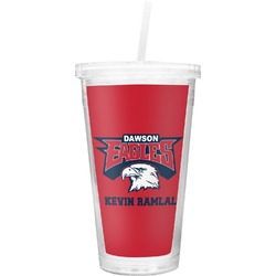DHS Logo Double Wall Tumbler with Straw (Personalized)