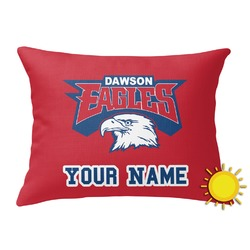 DHS Logo Outdoor Throw Pillow (Rectangular) (Personalized)