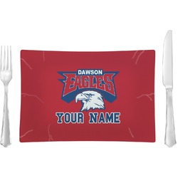 DHS Logo Rectangular Dinner Plate (Personalized)