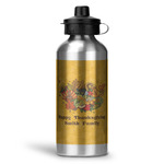 Happy Thanksgiving Water Bottle - Aluminum - 20 oz (Personalized)