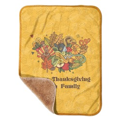 "Happy Thanksgiving Sherpa Baby Blanket 30"" x 40"" (Personalized)"