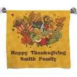 Happy Thanksgiving Full Print Bath Towel (Personalized)