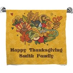 Happy Thanksgiving Full Print Bath Towel (Personalized)
