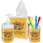 Happy Thanksgiving Bathroom Accessories Set (Personalized)