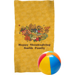 Happy Thanksgiving Beach Towel (Personalized)