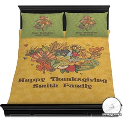 Happy Thanksgiving Duvet Cover Set (Personalized)