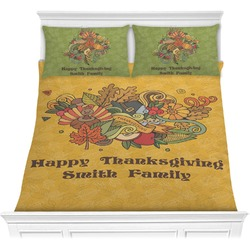 Happy Thanksgiving Comforter Set (Personalized)