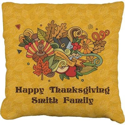 Happy Thanksgiving Faux-Linen Throw Pillow 20