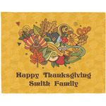 Happy Thanksgiving Woven Fabric Placemat - Twill w/ Name or Text