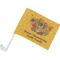 Happy Thanksgiving Car Flag (Personalized)