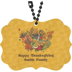 Happy Thanksgiving Rear View Mirror Charm (Personalized)
