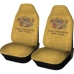 Happy Thanksgiving Car Seat Covers (Set of Two) (Personalized)